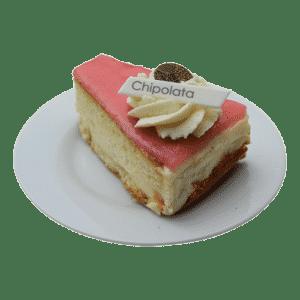 Op de afbeelding staat een chipolata gebakje weergeven welke te bestellen is op de bestelpagina banket.